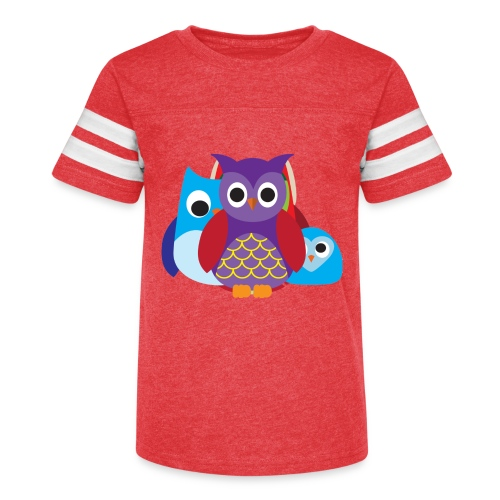 Cute Owls Eyes - Kid's Vintage Sport T-Shirt