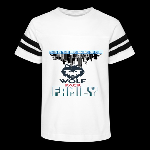 We Are Linked As One Big WolfPack Family - Kid's Vintage Sport T-Shirt