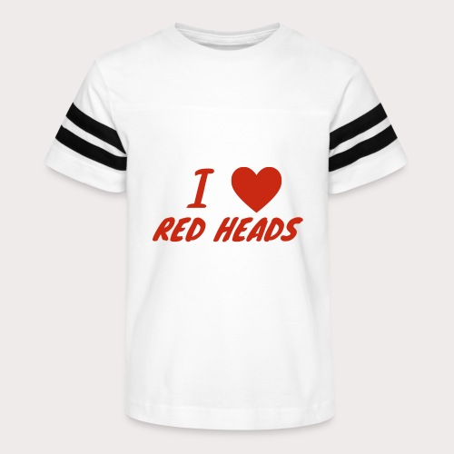 I HEART RED HEADS - Kid's Vintage Sport T-Shirt