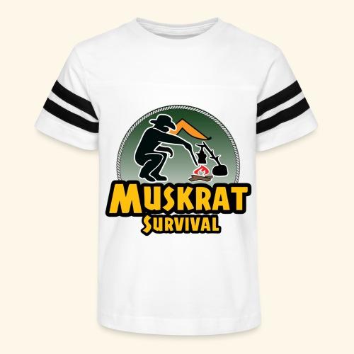 Muskrat round logo - Kid's Vintage Sport T-Shirt