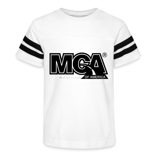 MCA Logo WBG Transparent BLACK TITLEfw fw png - Kid's Vintage Sport T-Shirt