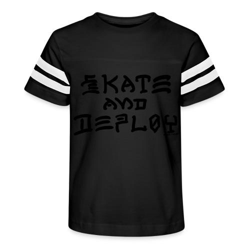 Skate and Deploy - Kid's Vintage Sport T-Shirt