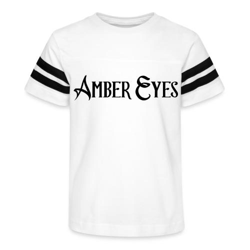 AMBER EYES LOGO IN BLACK - Kid's Vintage Sport T-Shirt