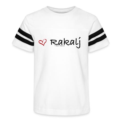 I love Rakalj - Kid's Vintage Sport T-Shirt