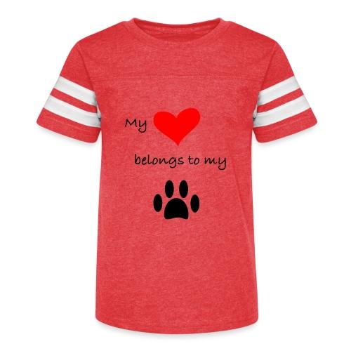 Dog Lovers shirt - My Heart Belongs to my Dog - Kid's Vintage Sport T-Shirt
