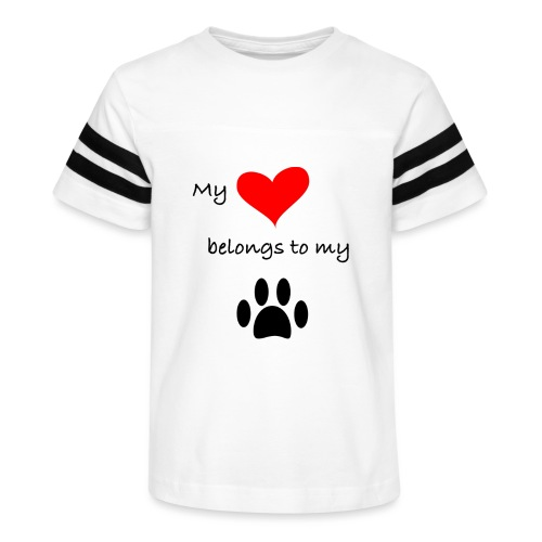 Dog Lovers shirt - My Heart Belongs to my Dog - Kid's Vintage Sport T-Shirt