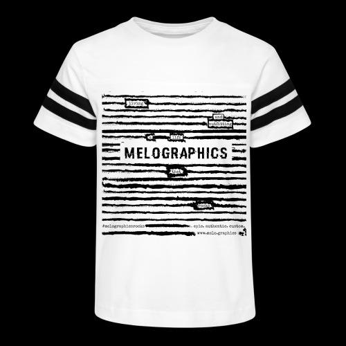 MELOGRAPHICS | Blackout Poem - Kid's Vintage Sport T-Shirt