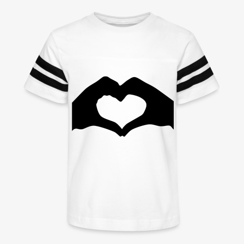 Silhouette Heart Hands | Mousepad - Kid's Vintage Sport T-Shirt