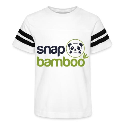 Snap Bamboo Square Logo Branded - Kid's Vintage Sport T-Shirt