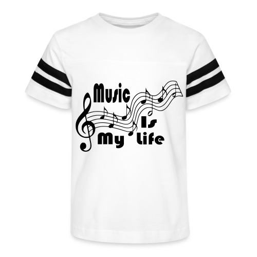 Music Is My Life - Kid's Vintage Sport T-Shirt
