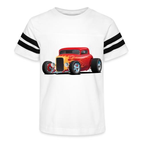 Classic Bold Red Custom Street Rod - Kid's Vintage Sport T-Shirt