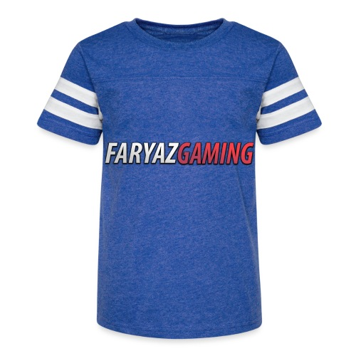 FaryazGaming Text - Kid's Vintage Sports T-Shirt