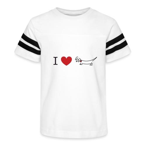 I love Dachshund - Kid's Vintage Sport T-Shirt