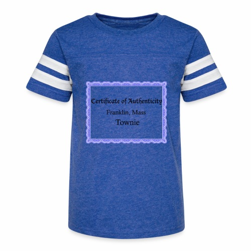 Franklin Mass townie certificate of authenticity - Kid's Vintage Sport T-Shirt