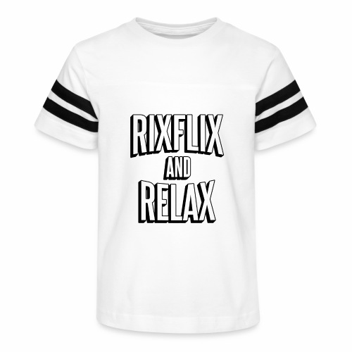 RixFlix and Relax - Kid's Vintage Sport T-Shirt