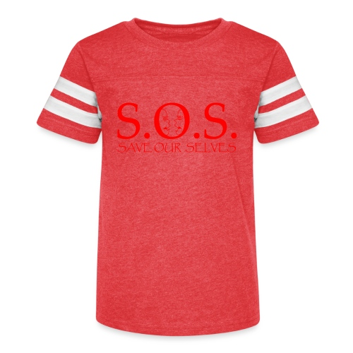 sos red - Kid's Vintage Sports T-Shirt