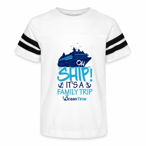 Oh Ship! it s a Family Trip - Kid's Vintage Sport T-Shirt