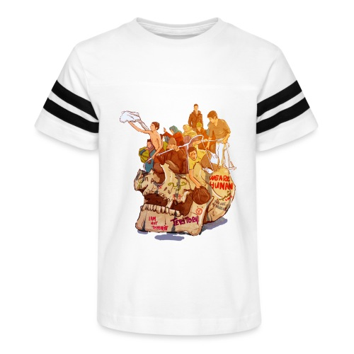Skull & Refugees - Kid's Vintage Sport T-Shirt