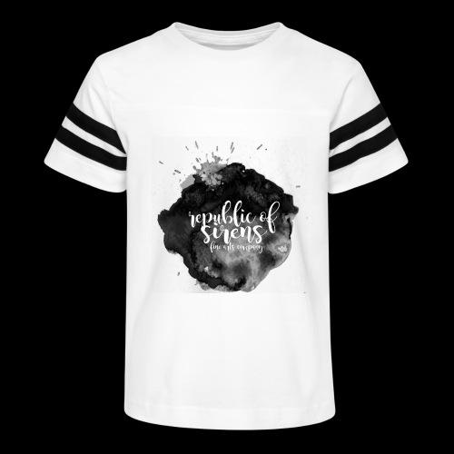 ROS FINE ARTS COMPANY - Black Aqua - Kid's Vintage Sport T-Shirt