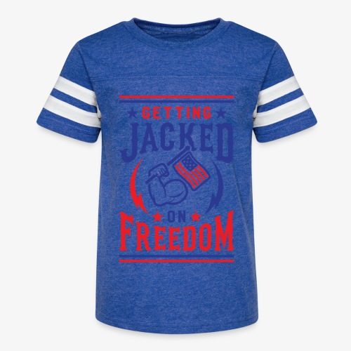 Getting Jacked On Freedom - Kid's Vintage Sport T-Shirt