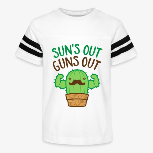 Sun's Out Guns Out Macho Cactus - Kid's Vintage Sport T-Shirt