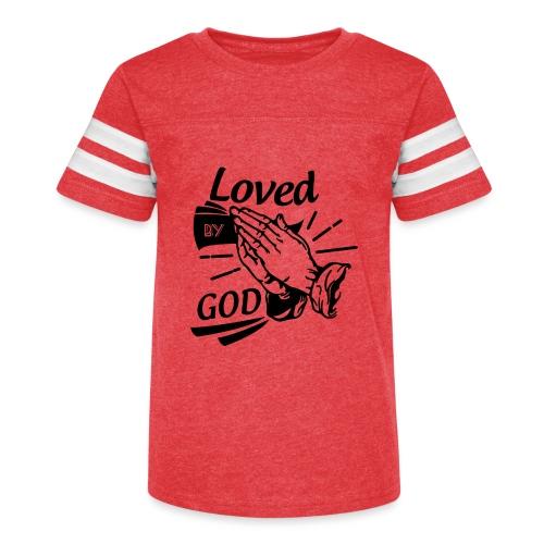 Loved By God (Black Letters) - Kid's Vintage Sport T-Shirt