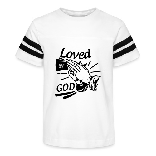 Loved By God (Black Letters) - Kid's Vintage Sport T-Shirt