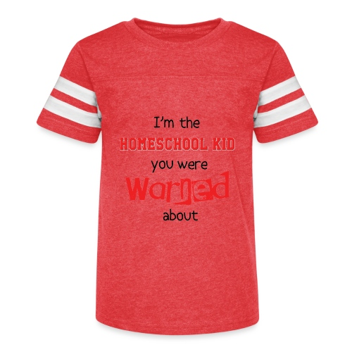 Homeschool Kid Warning - Kid's Vintage Sport T-Shirt