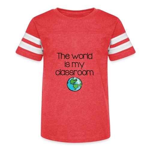 World Classroom - Kid's Vintage Sport T-Shirt
