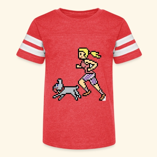 RunWithPixel - Kid's Vintage Sport T-Shirt
