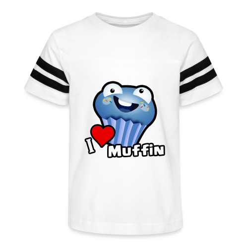 I Love Muffin - Kid's Vintage Sport T-Shirt
