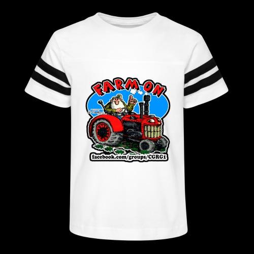 Mr Natural Farm On - Kid's Vintage Sport T-Shirt