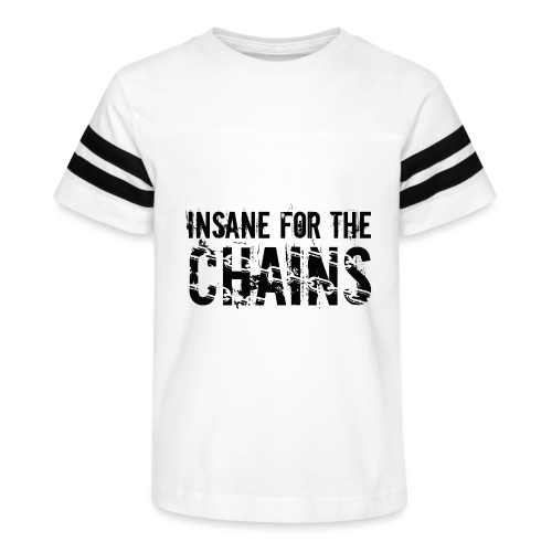 Insane For the Chains Disc Golf Black Print - Kid's Vintage Sport T-Shirt