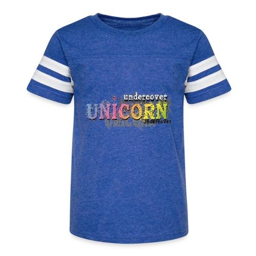 Undercover Unicorn - Kid's Vintage Sport T-Shirt