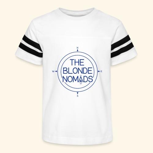 The Blonde Nomads Blue Logo - Kid's Vintage Sport T-Shirt
