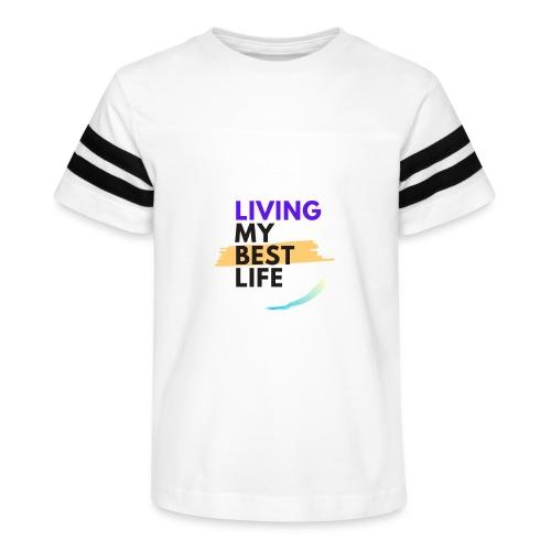 living my best life - Kid's Vintage Sports T-Shirt