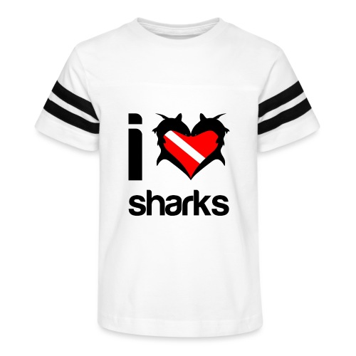 I Love Sharks - Kid's Vintage Sport T-Shirt
