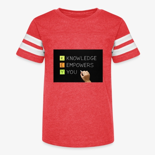 knowledge is power - Kid's Vintage Sport T-Shirt