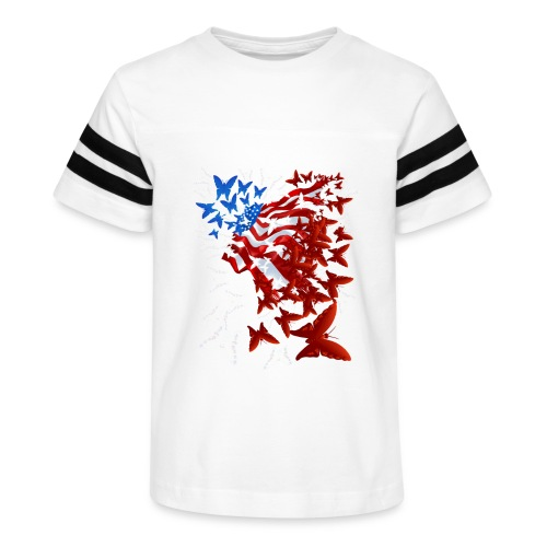 The Butterfly Flag - Kid's Vintage Sport T-Shirt