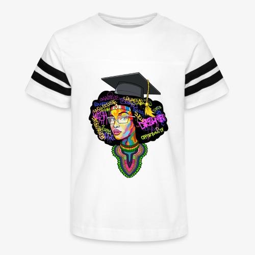 Black Educated Queen School - Kid's Vintage Sport T-Shirt