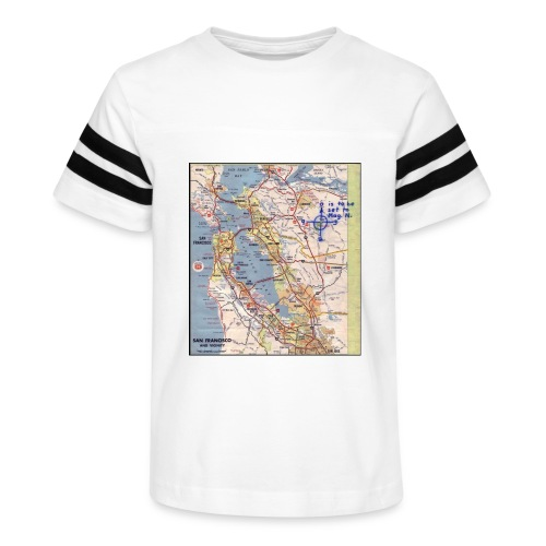 Phillips 66 Zodiac Killer Map June 26 - Kid's Vintage Sport T-Shirt