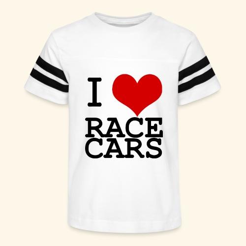 I Love Race Cars - Kid's Vintage Sport T-Shirt