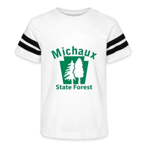 Michaux State Forest Keystone (w/trees) - Kid's Vintage Sport T-Shirt
