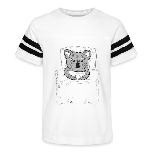 Print With Koala Lying In A Bed - Kid's Vintage Sport T-Shirt