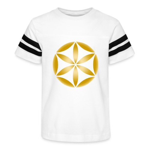part of the flower of life in gold - Kid's Vintage Sport T-Shirt