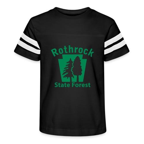 Rothrock State Forest Keystone (w/trees) - Kid's Vintage Sport T-Shirt