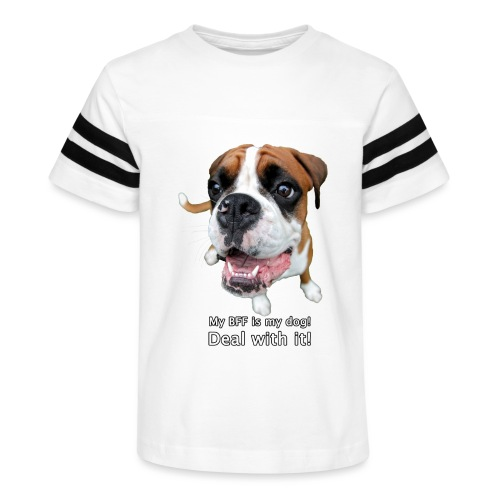 My BFF is my dog deal with it - Kid's Vintage Sport T-Shirt