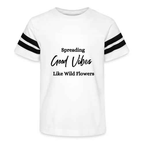 Good Vibes - Kid's Vintage Sports T-Shirt
