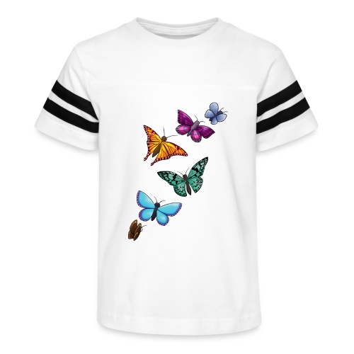 butterfly tattoo designs - Kid's Vintage Sport T-Shirt