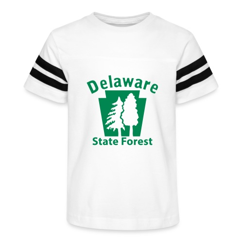Delaware State Forest Keystone (w/trees) - Kid's Vintage Sport T-Shirt